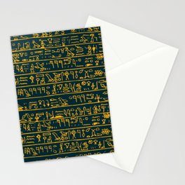 Egyptian hieroglyphs Stationery Cards