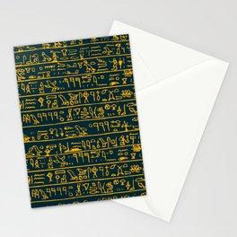 Egyptian hieroglyphs Stationery Cards