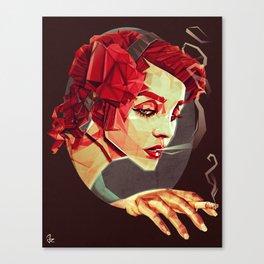 """""""Smoking Princess"""" Canvas Print"""