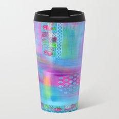 Pink with Blue Dots Travel Mug