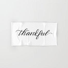 Thankful Calligraphy Hand & Bath Towel