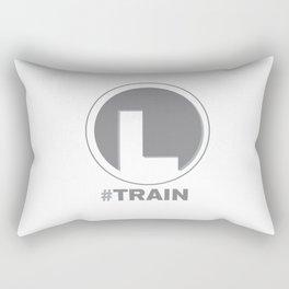 NY MTA Subway L Train Line Rectangular Pillow