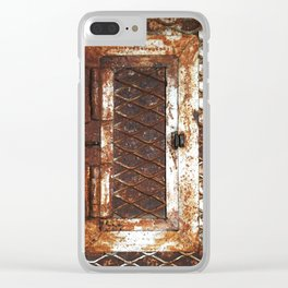 Rusted Door Clear iPhone Case