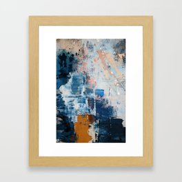 Shapes in the Clouds: a vibrant mixed-media piece in blues and pinks by Alyssa Hamilton Art Framed Art Print