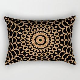 Mandala Fractal in Summer Fire Rectangular Pillow