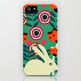 Little bunny in spring iPhone Case