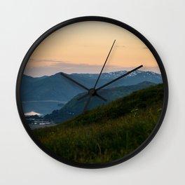 Island Mountaintop Zoomed Wall Clock