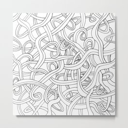 Curved lines 1 Metal Print