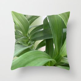 LILY GREENERY Throw Pillow