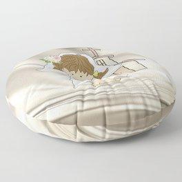 My Little Barefoot Bride Floor Pillow