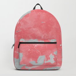 pink marble pattern Backpack