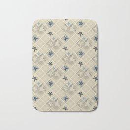 Gray beige patchwork Bath Mat