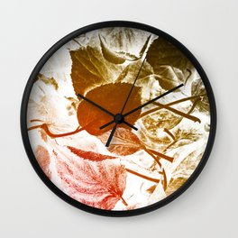 Autumn leaves abstract Wall Clock
