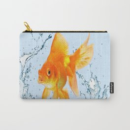 JUMPING  GOLDFISH SPLASHING  WATER ART Carry-All Pouch