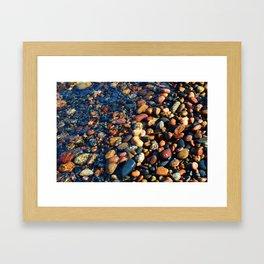 Lake Superior Rocks Framed Art Print