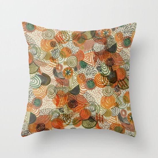 Tomatoes and pickles  Throw Pillow