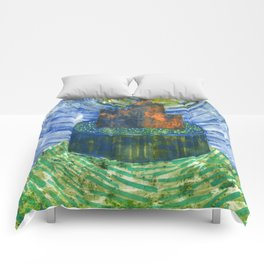 Castle on a Hill Comforters
