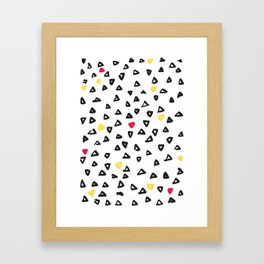 doodle triangles Framed Art Print