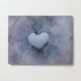 Heart of Ice Metal Print