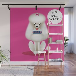 Chic Poodle Wall Mural