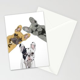 Triple Frenchies Stationery Cards