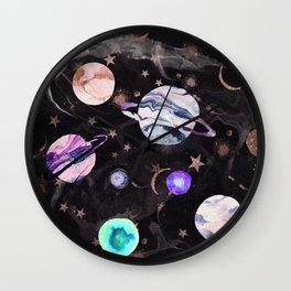 Marble Galaxy Wall Clock