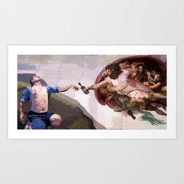 The Inebriation of Evan Art Print