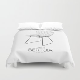 Chairs - A tribute to seats: I'm a Bertoia (poster) Duvet Cover