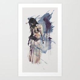 Bellydancer Abstract Art Print