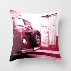 VW Bus 17B Throw Pillow