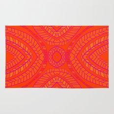 Orange Leaves Pattern Rug