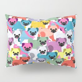 Colored Pugs Pattern - no1 Pillow Sham