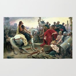 Vercingetorix Throws Down His Arms At The Feet Of Julius Caesar Rug