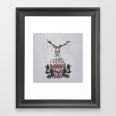 Christmas Deer (by Mariam & Nika) Framed Art Print