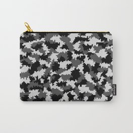 Camouflage Digital Black and White Carry-All Pouch