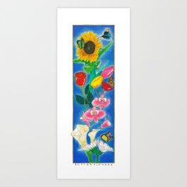 BUTTERFLWOERS Art Print