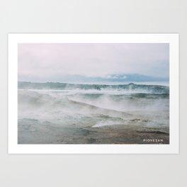 fumaroles field Art Print