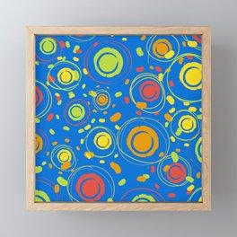 Patio Lantens Blue Framed Mini Art Print