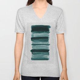 Abstract Minimalism Brushstrokes #1 #minimal #ink #decor #art #society6 Unisex V-Neck