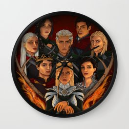 Throne of Glass Montage Wall Clock