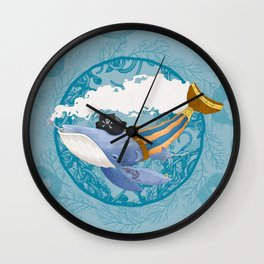 Ballena Pirata Wall Clock