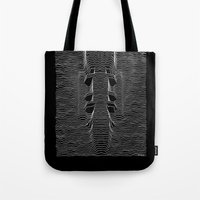 battlestar galactica Tote Bags featuring Galactica Division by Billy Allison