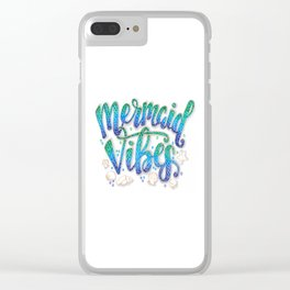 Mermaid Vibes Clear iPhone Case