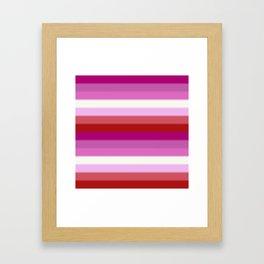 Lesbian Pride Flag v2 Framed Art Print