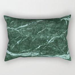 Dark Green Marble texture Rectangular Pillow