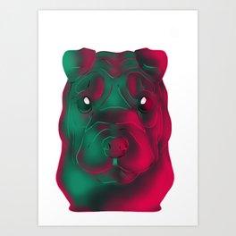 Techno Sharpei Art Print