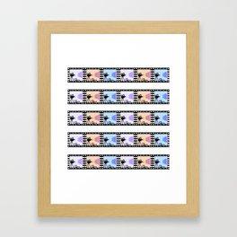 Movie stripes Framed Art Print