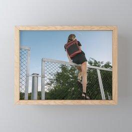 Hoping Fences Framed Mini Art Print