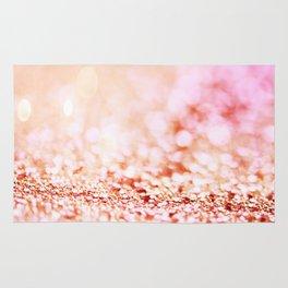 Pink shiny glitter - Sparkle Girly Valentine Backdrop Rug