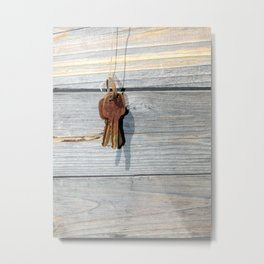 The keys hang on the rope Metal Print